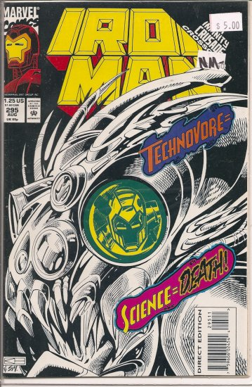 Iron Man # 295, 9.2 NM -