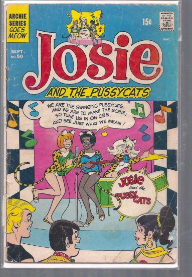 JOSIE AND THE PUSSYCATS # 50, 1.8 GD -