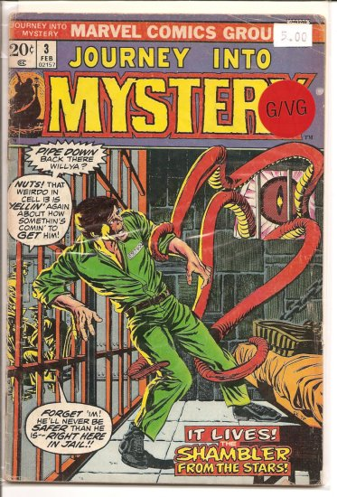 Journey into Mystery # 3, 3.0 GD/VG
