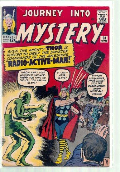JOURNEY INTO MYSTERY # 93, 4.5 VG +