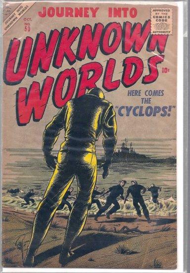 JOURNEY INTO UNKNOWN WORLDS # 50, 4.5 VG +