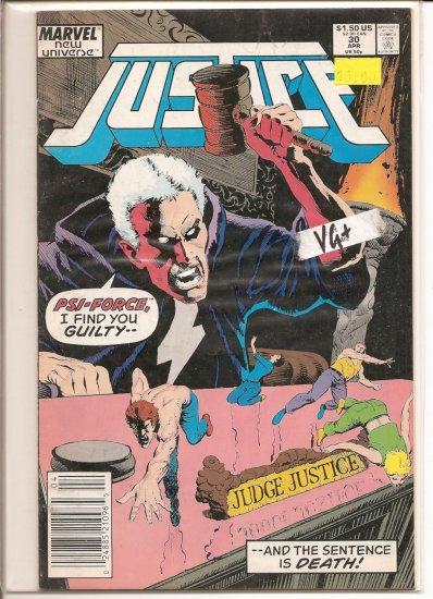 Justice # 30, 4.5 VG +