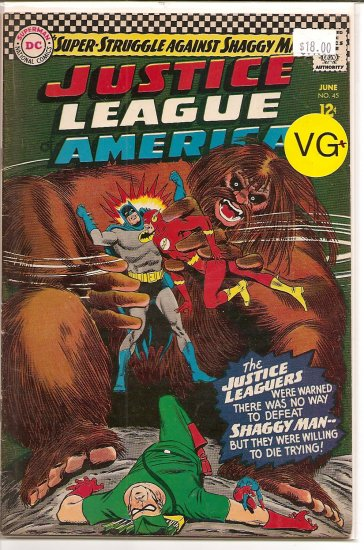 Justice League of America # 45, 4.5 VG +