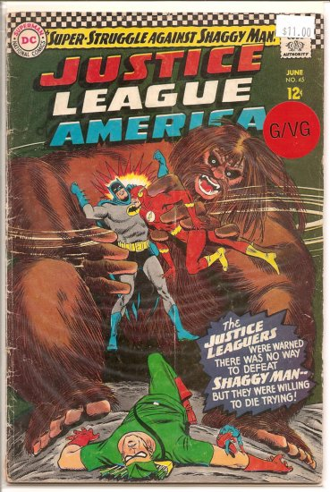 Justice League of America # 45, 3.0 GD/VG