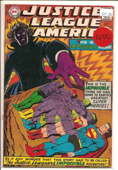 Justice League of America # 59, 3.0 GD/VG