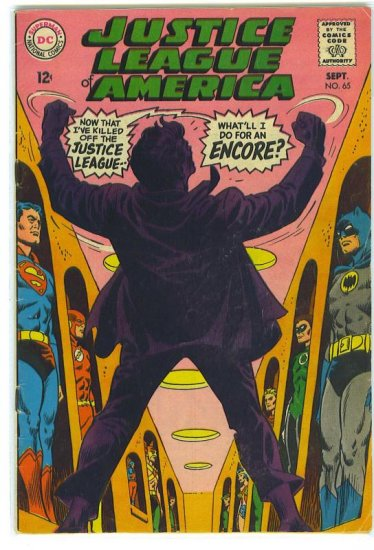 Justice League Of America # 65, 4.5 VG +