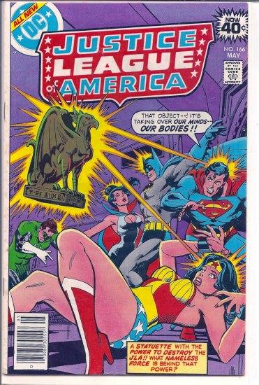 JUSTICE LEAGUE OF AMERICA # 166, 4.5 VG +