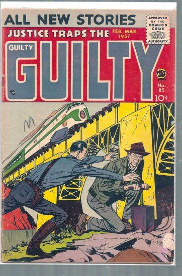 JUSTICE TRAPS THE GUILTY # 85, 3.0 GD/VG