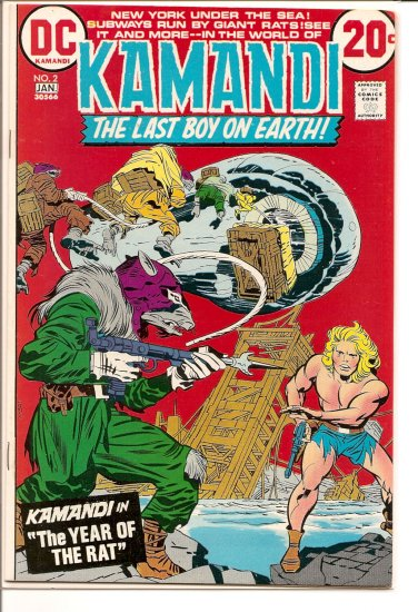 Kamandi, The Last Boy On Earth # 2, 7.0 FN/VF