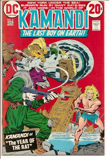 Kamandi, The Last Boy On Earth # 2, 5.0 VG/FN