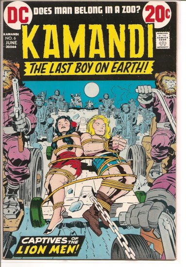 Kamandi, The Last Boy On Earth # 6, 4.5 VG +