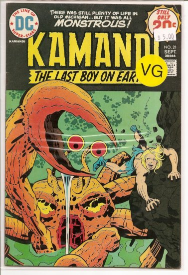 Kamandi, The Last Boy On Earth # 21, 4.0 VG