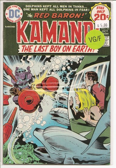 Kamandi, The Last Boy On Earth # 22, 5.0 VG/FN