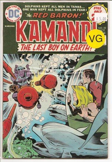 Kamandi, The Last Boy On Earth # 22, 4.0 VG