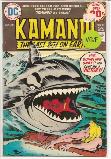 Kamandi, The Last Boy On Earth # 23, 5.0 VG/FN