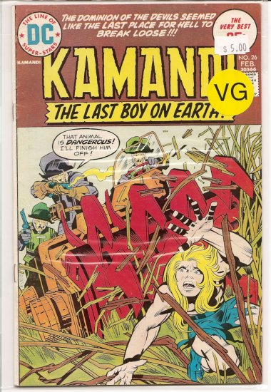 Kamandi, The Last Boy On Earth # 26, 4.0 VG