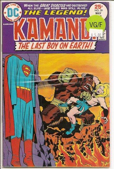 Kamandi, The Last Boy On Earth # 29, 5.0 VG/FN