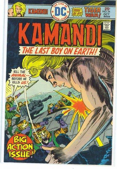 Kamandi, The Last Boy On Earth # 34, 7.5 VF -