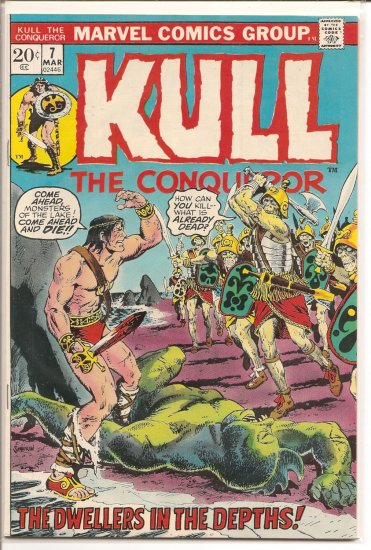 Kull the Conqueror # 7, 7.5 VF -