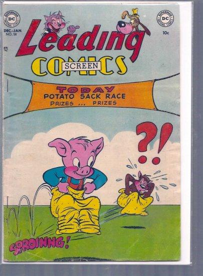 LEADING SCREEN COMICS # 58, 3.5 VG -