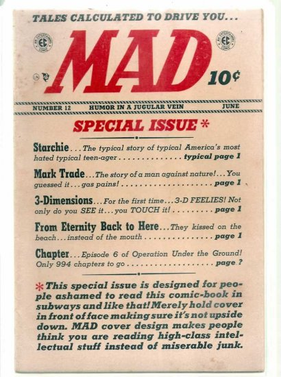 MAD # 12, 5.0 VG/FN