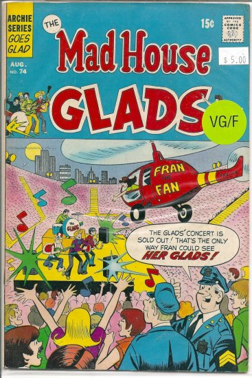 Madhouse Glads # 74, 5.0 VG/FN