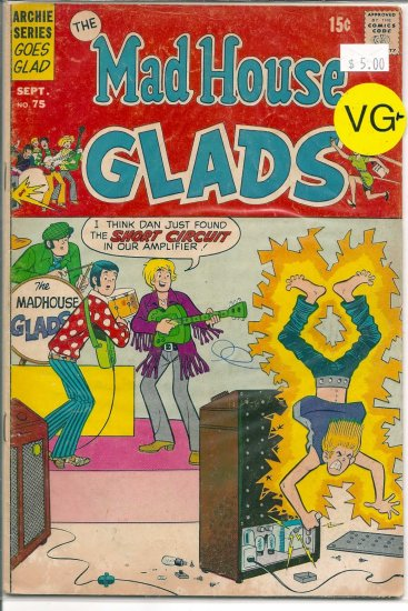 Madhouse Glads # 75, 4.5 VG +