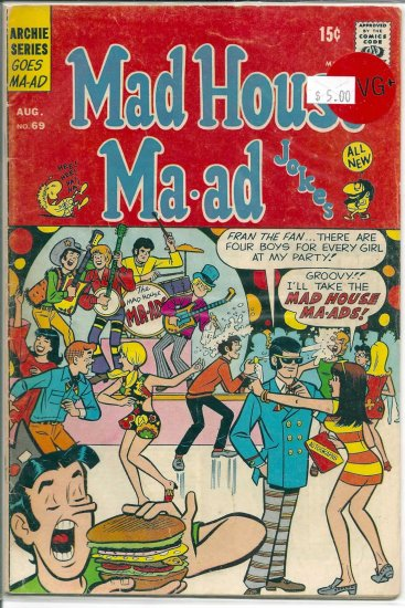 Madhouse Ma-ad # 69, 4.5 VG +
