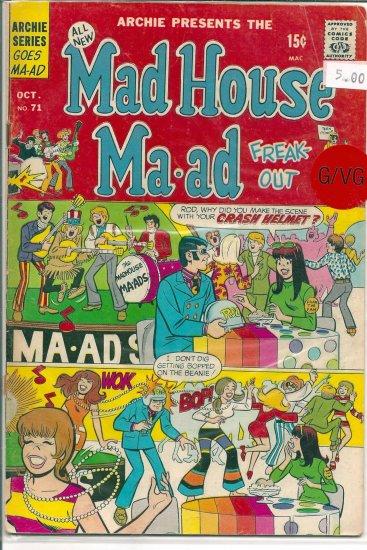 Madhouse Ma-ad # 71, 3.0 GD/VG