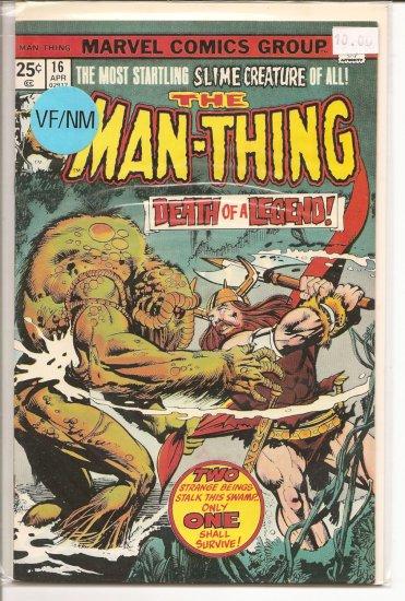 Man-Thing # 16, 9.0 VF/NM