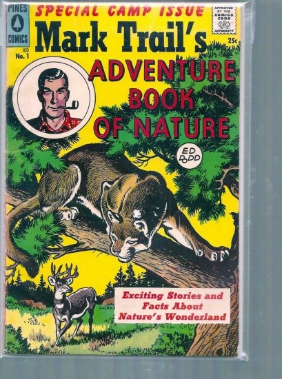 MARK TWAIN ADVENTURE BOOK OF NATURE # 1, 4.5 VG +