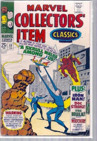 MARVEL COLLECTORS' ITEM CLASSICS # 13, 4.5 VG +