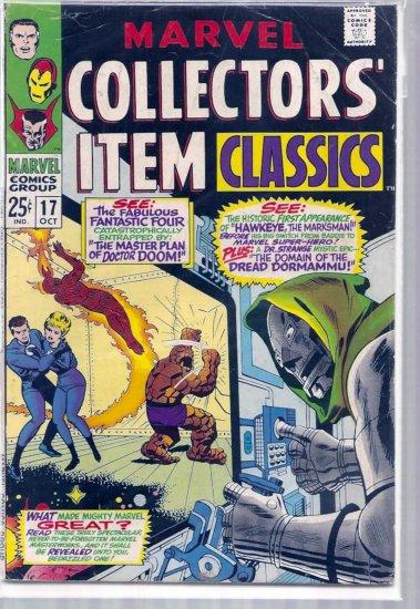 MARVEL COLLECTORS' ITEM CLASSICS # 17, 4.5 VG +