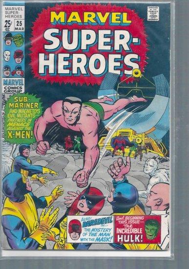 MARVEL SUPER-HEROES # 25, 4.5 VG +
