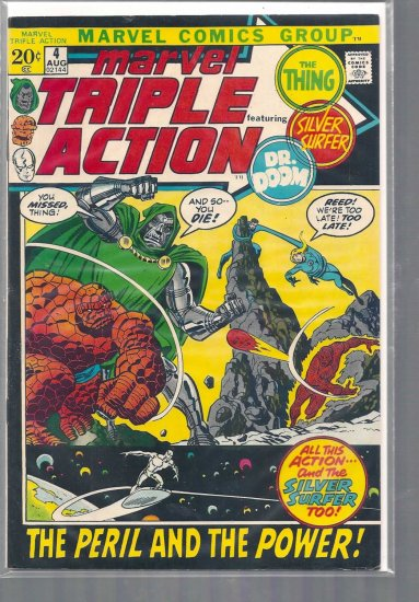 MARVEL TRIPLE ACTION # 4, 4.5 VG +