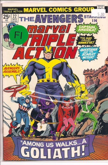 Marvel Triple Action # 22, 6.0 FN