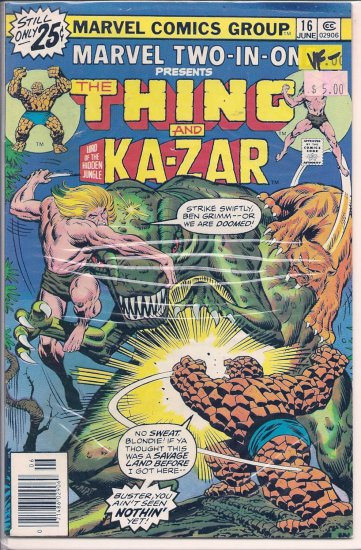 Marvel Two-In-One # 16, 7.5 VF -