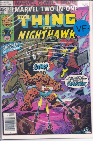 Marvel Two-In-One # 34, 7.5 VF -