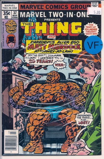 Marvel Two-In-One # 37, 7.5 VF -