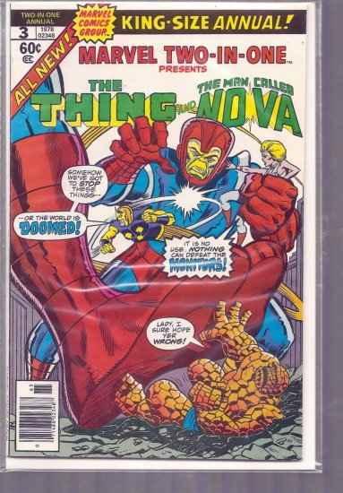 MARVEL TWO-IN-ONE ANNUAL # 3, 4.5 VG +
