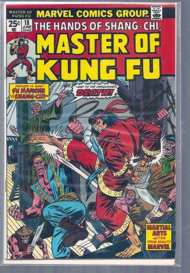 MASTER OF KUNG FU # 18, 4.5 VG +