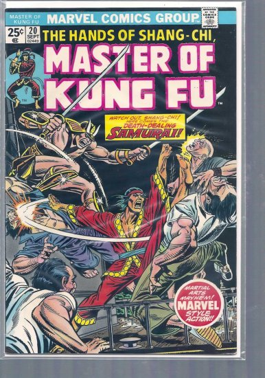 MASTER OF KUNG FU # 20, 5.0 VG/FN