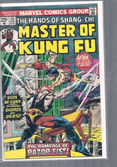 MASTER OF KUNG FU # 29, 6.0 FN