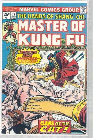 MASTER OF KUNG FU # 38, 4.0 VG