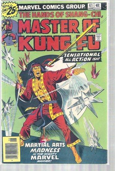 MASTER OF KUNG FU # 41, 4.0 VG
