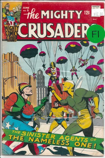 Mighty Crusaders # 5, 4.5 VG +