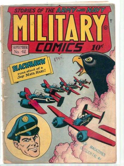 MILITARY COMICS # 42, 1.5 FR/GD
