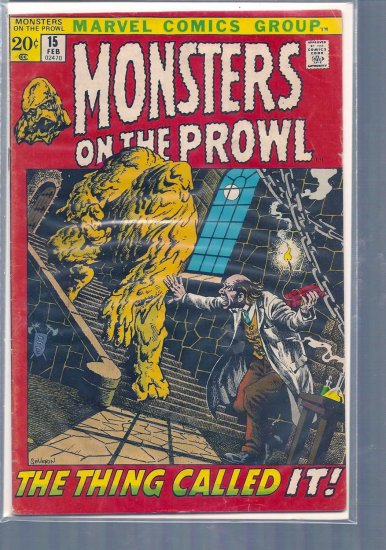 MONSTERS ON THE PROWL # 15, 3.5 VG -