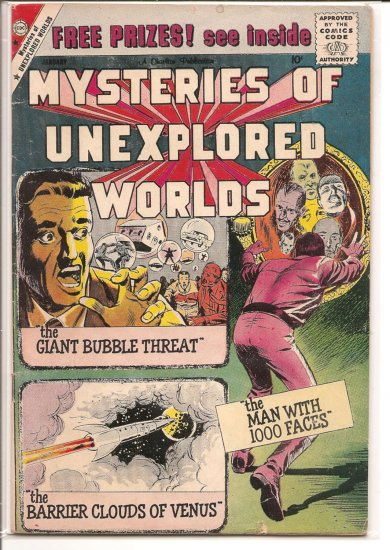 MYSTERIES OF UNEXPLORED WORLDS # 16, 3.0 GD/VG