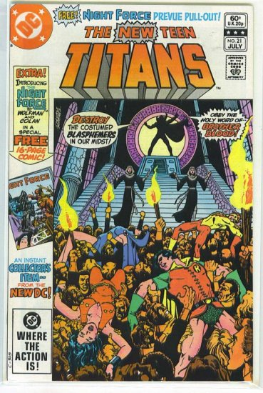 New Teen Titans # 21, 9.2 NM -